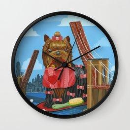 New Yorkie Wall Clock