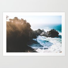 ocean falaise Art Print