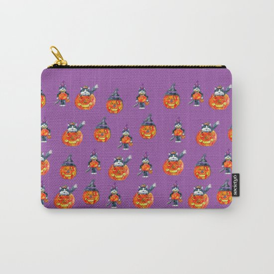 Black Cats and Jack-o-lanterns Carry-All Pouch