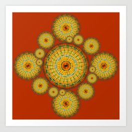 Copernicus, Descartes, and the Mayan Corn Calendar Art Print