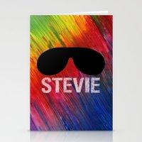 stevie nicks Stationery Cards featuring STEVIE by Maenia