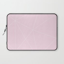 White On Pink Laptop Sleeve