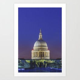 Symmetry on the Millennium Bridge to the St Paul's Cathedral  Art Print