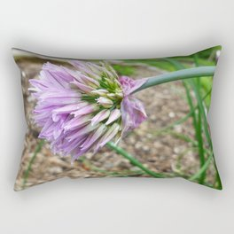 Purple Chive Rectangular Pillow