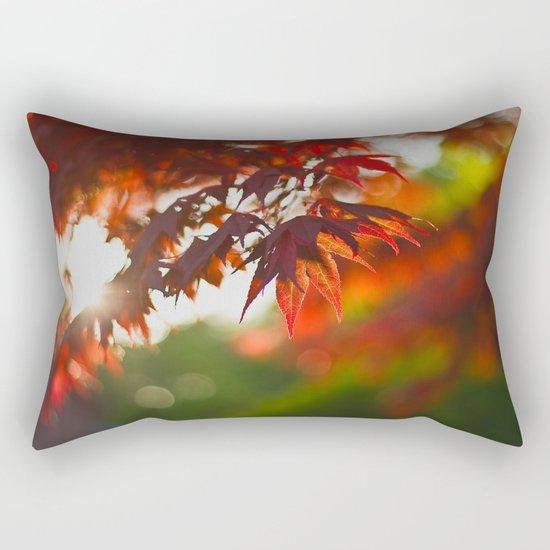 Indian Summer III Season Autum red Leaves Fall #Society6 Rectangular Pillow
