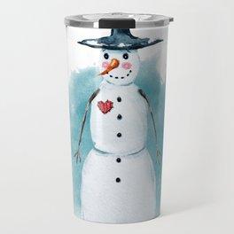Thin Snowman Travel Mug