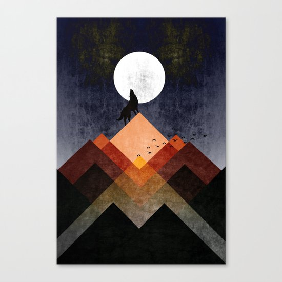 Wolf Home Canvas Print