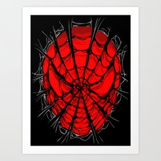 Web Face Torn Tshirt iPhone 4 4s 5 5c, ipod, ipad, pillow case, tshirt and mugs Art Print