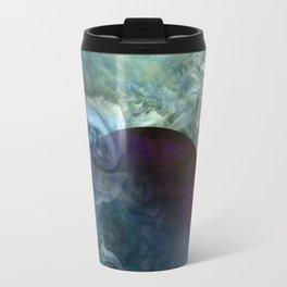 """Blue clouds on Saturn"" Travel Mug"