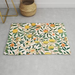 Lemon tree pattern vintage William Morris print Rug