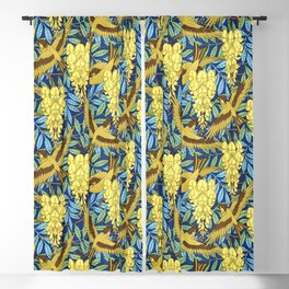 Flowers and Swallows by Maurice Pillard Verneuil Blackout Curtain