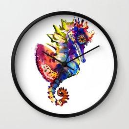 Rainbow Seahorse, seahorse art design Wall Clock