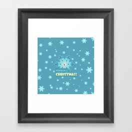 Fun snowflake Framed Art Print