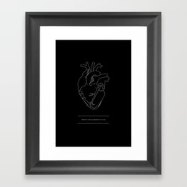 Need/Absence Framed Art Print
