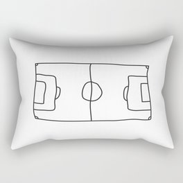 Football in Lines Rectangular Pillow