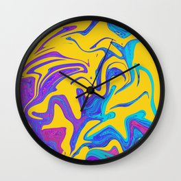 Bright painted marble Wall Clock