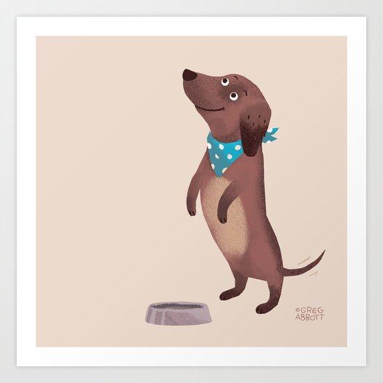 Please (Dog) Art Print