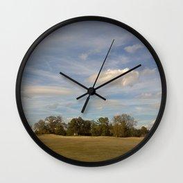 Winter Golfing Wall Clock
