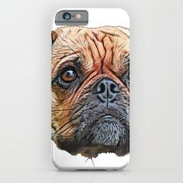 Puggle Beagle Pug designer breeders aim healthy companion iPhone Case
