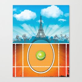 Paris Tennis Canvas Print