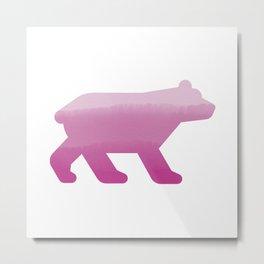 Pink Bear - Wildlife Series Metal Print