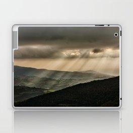Sunrays illuminate hills and mountains Laptop & iPad Skin