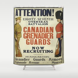 Vintage poster - Canadian Grenadier Guards Shower Curtain