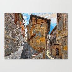 Vertical disturbing Canvas Print