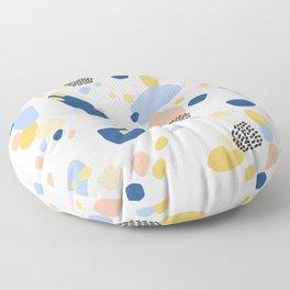 Modern Terrazzo Classic Blue  Floor Pillow
