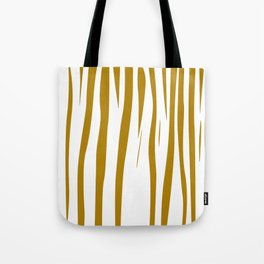 gold lines on white. gold eth. lines Tote Bag