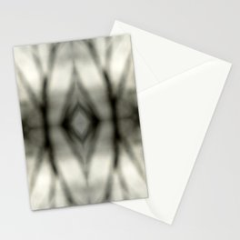 Abstract Branch Mood- Black & White Tie Dye - Natural Neutral Stationery Cards