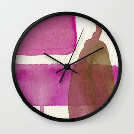 Pinks and Pears Wall Clock