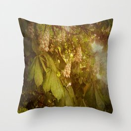 The Candle Tree. Throw Pillow