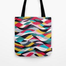 Pop Art Waves Tote Bag