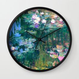 water lilies : Monet Wall Clock