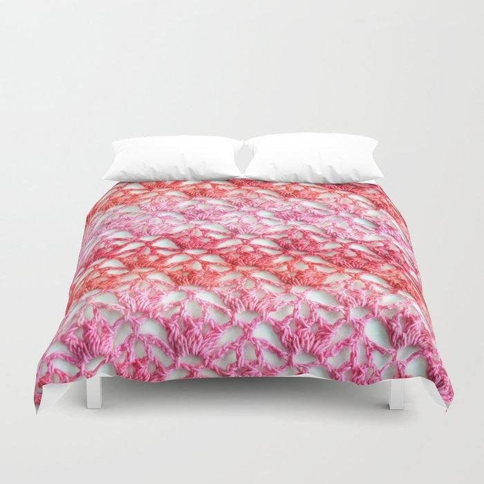Cherry Blossom Crochet Duvet Cover