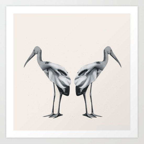 Handbirds Art Print