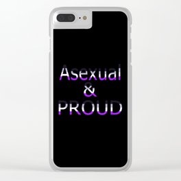 Asexual and Proud (black bg) Clear iPhone Case