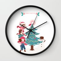 luffy Wall Clocks featuring ASL Christmas by yamineftis