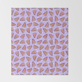 Pizza Magic // Purple Throw Blanket