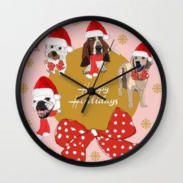 Happy Howlidays Wall Clock
