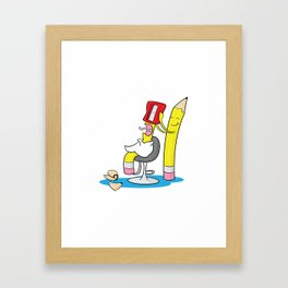 Close Shave Framed Art Print
