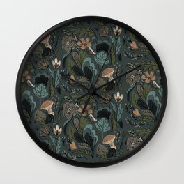 Jungle Whimsy Wall Clock