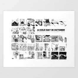 A Cold Day in October Art Print