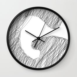 """"""" Cloud Collection """" - Minimal Letter G Print Wall Clock"""