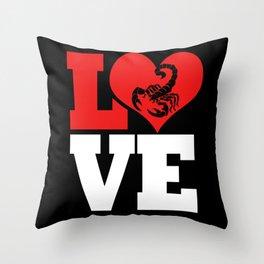 Scorpion Love Scorpio Zodiac Sign Horoscope Throw Pillow