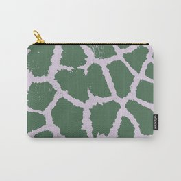 Giraffe pattern Green and pink Carry-All Pouch