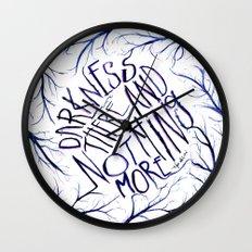 Poe's Darkness in Watercolour Wall Clock