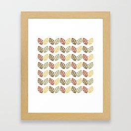 Retro Leaves Pattern Framed Art Print