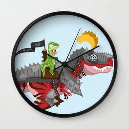 Dino Knight T-Rex II Wall Clock